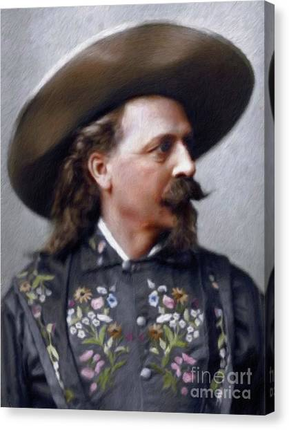 Buffalo Bills Canvas Print - Buffalo Bill Cody by Mary Bassett