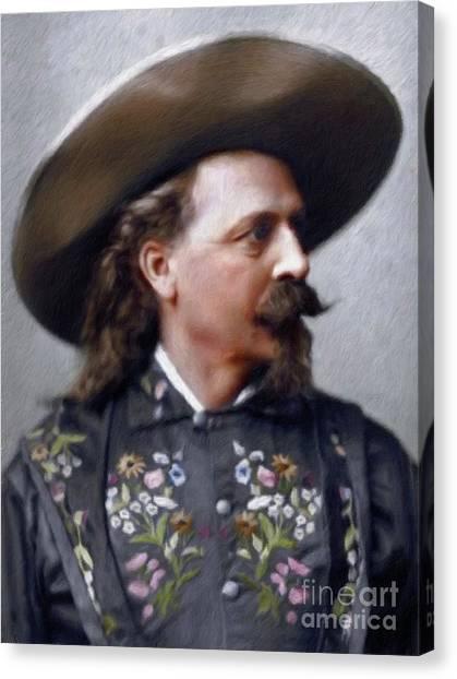 Buffalo Bills Canvas Print - Buffalo Bill Cody by Mary Bassett