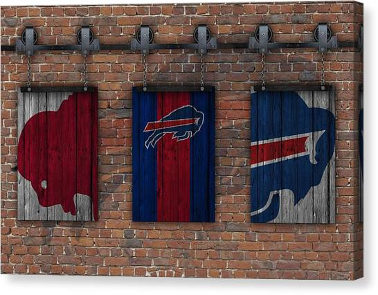 Buffalo Bills Canvas Print - Buffalo Bills Brick Wall by Joe Hamilton
