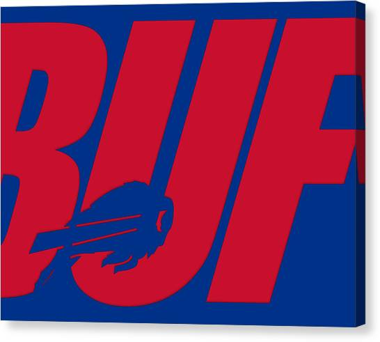 Buffalo Bills Canvas Print - Buffalo Bills City Name by Joe Hamilton