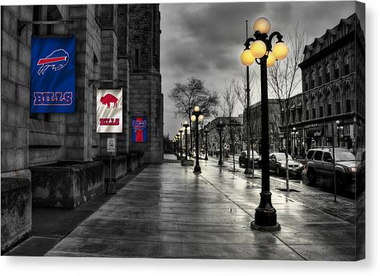 Buffalo Bills Canvas Print - Buffalo Bills Flags by Joe Hamilton