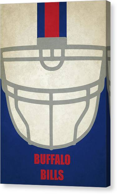 Buffalo Bills Canvas Print - Buffalo Bills Helmet Art by Joe Hamilton