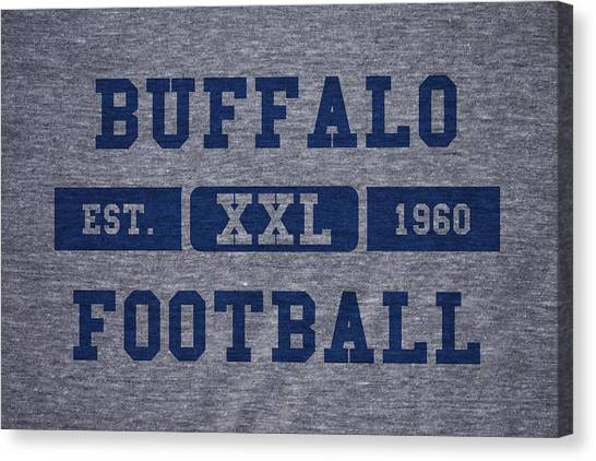 Buffalo Bills Canvas Print - Buffalo Bills Retro Shirt by Joe Hamilton