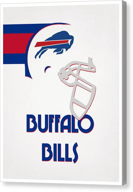 Buffalo Bills Canvas Print - Buffalo Bills Team Vintage Art by Joe Hamilton