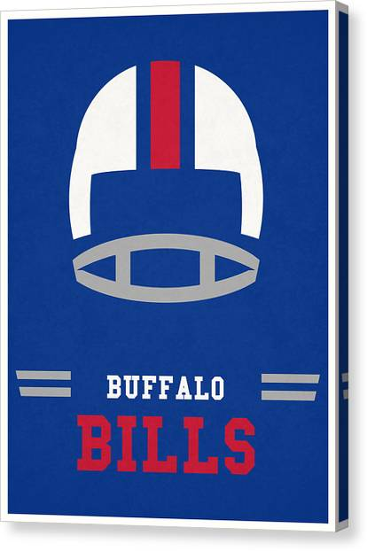 Buffalo Bills Canvas Print - Buffalo Bills Vintage Nfl Art by Joe Hamilton
