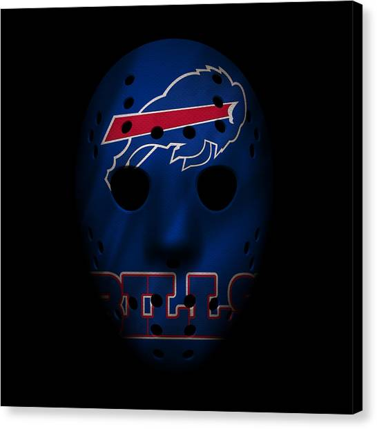 Buffalo Bills Canvas Print - Buffalo Bills War Mask by Joe Hamilton