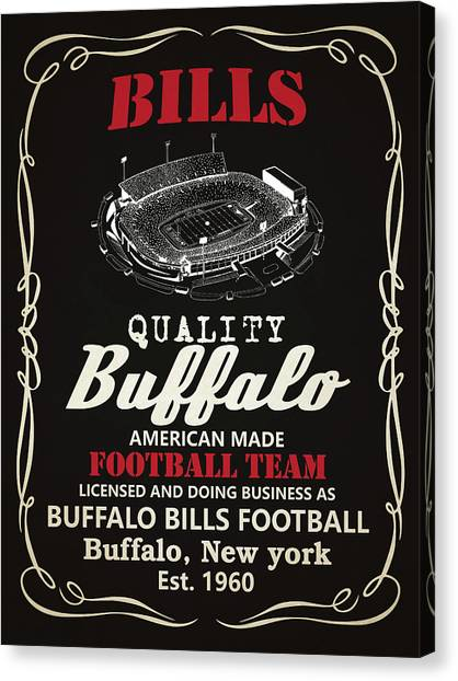 Buffalo Bills Canvas Print - Buffalo Bills Whiskey 2 by Joe Hamilton