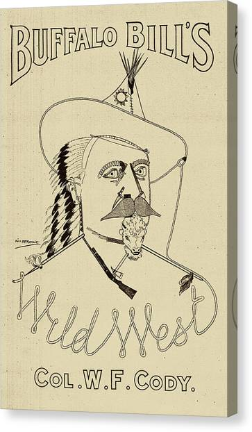 Buffalo Bills Canvas Print - Buffalo Bill's Wild West - American History by War Is Hell Store