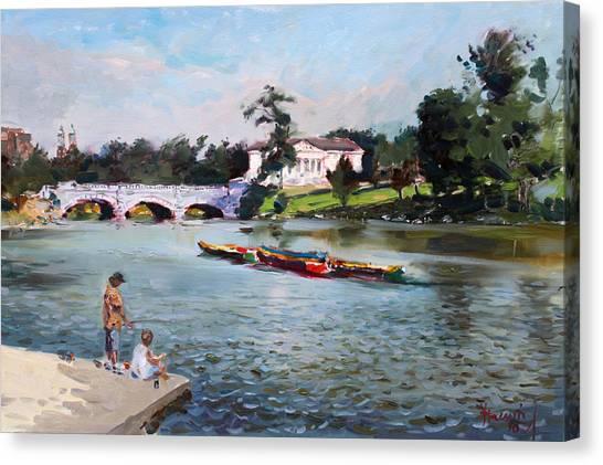Delaware Canvas Print - Buffalo  Fishing Day by Ylli Haruni