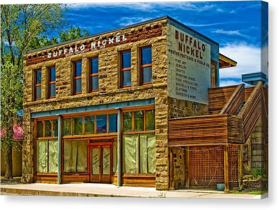 Buffalo Nickel Canvas Print by Lou  Novick