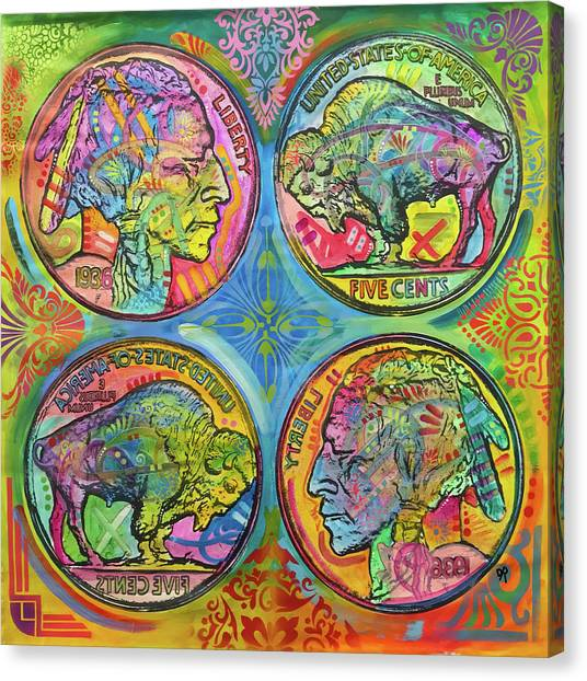 Currency Canvas Print - Buffalo Nickel Reflect by Dean Russo Art