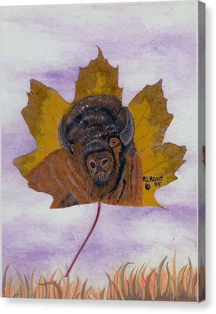 Buffalo Profile Canvas Print