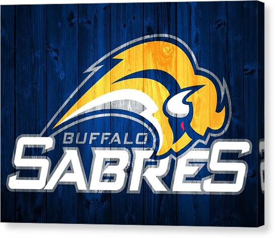 Buffalo Sabres Canvas Print - Buffalo Sabres Barn Door by Dan Sproul