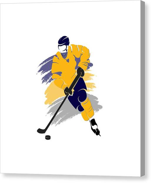 Buffalo Sabres Canvas Print - Buffalo Sabres Player Shirt by Joe Hamilton