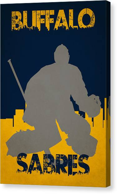 Buffalo Sabres Canvas Print - Buffalo Sabres Shadow Player by Joe Hamilton