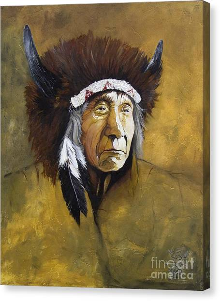 Buffalo Shaman Canvas Print