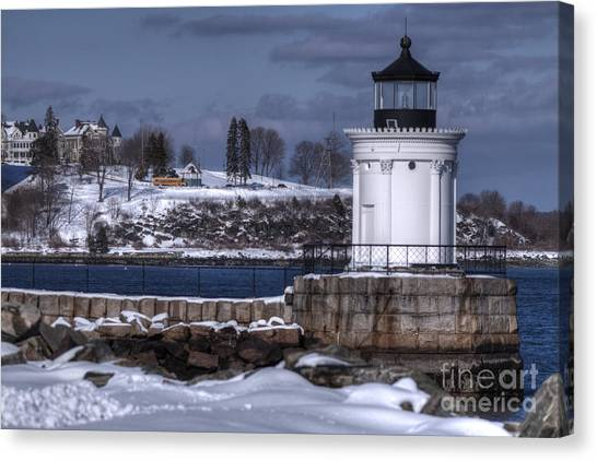 Bug Light In Winter Canvas Print