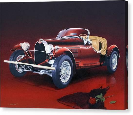 Bugatti. Italian Exotic Car Canvas Print
