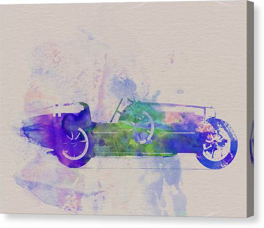 Type Canvas Print - Bugatti Type 35 R Watercolor 2 by Naxart Studio