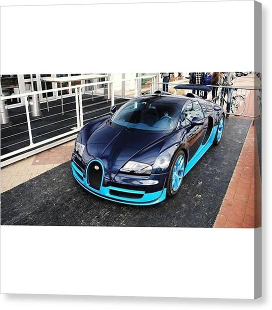 Porsche Canvas Print - Bugatti Veyron 16.4 Grand Sport Vitesse by Sian Loyson