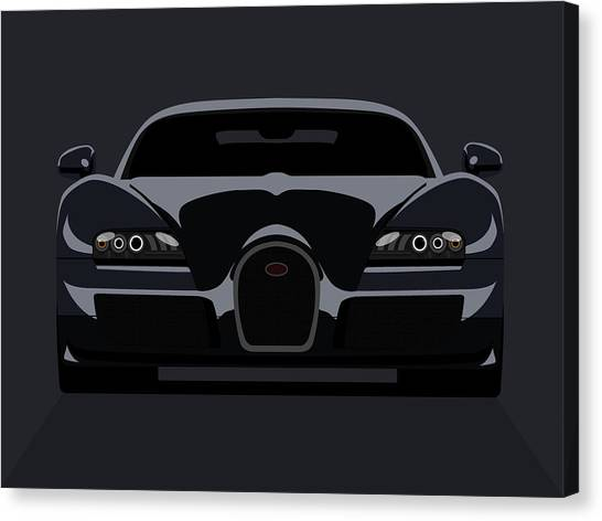 Muscles Canvas Print - Bugatti Veyron Dark by Michael Tompsett