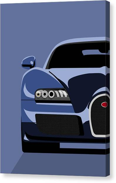Pop Art Canvas Print - Bugatti Veyron by Michael Tompsett