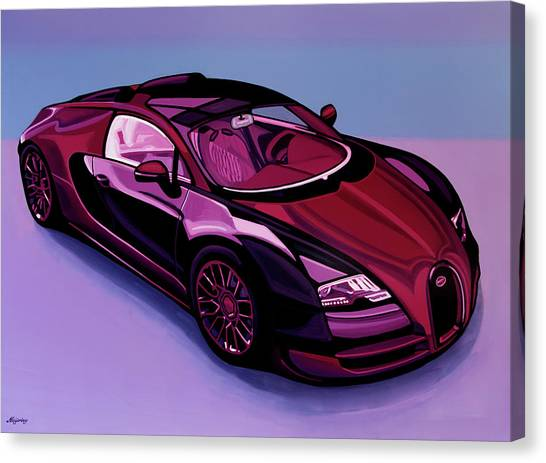 Audi Canvas Print - Bugatti Veyron 2005 Painting by Paul Meijering