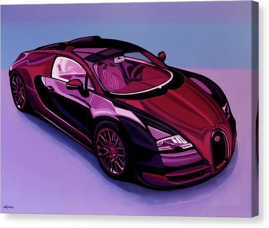 Audi Canvas Print - Bugatti Veyron 2005 Painting by Paul Meijering