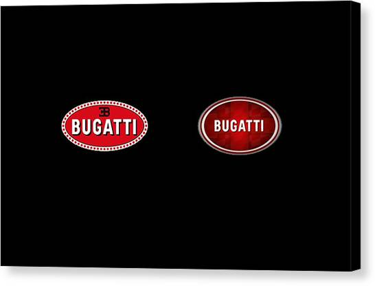 Bugatti logo canvas prints page 2 of 2 fine art america bugatti logo canvas print bugatti by zahrah rossie voltagebd Image collections