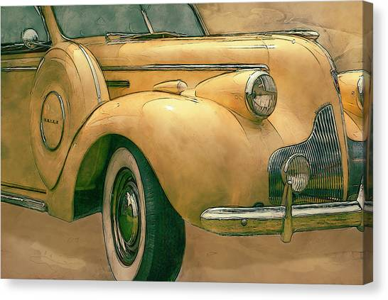 Analog Canvas Print - Buick Classic by Jack Zulli