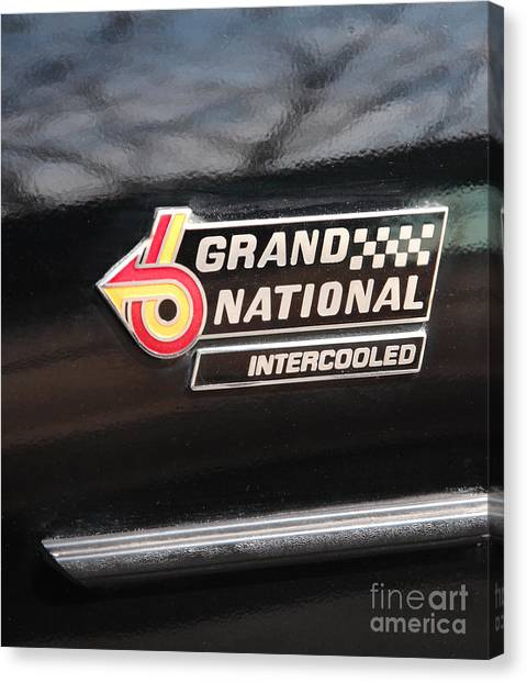 Buick Grand National Emblem Canvas Print