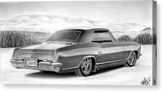 Buick In The Weeds 2 Canvas Print by Lyle Brown
