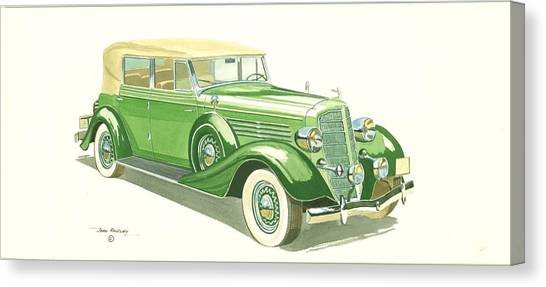 Buick Series 60 1935 Canvas Print by John Kinsley