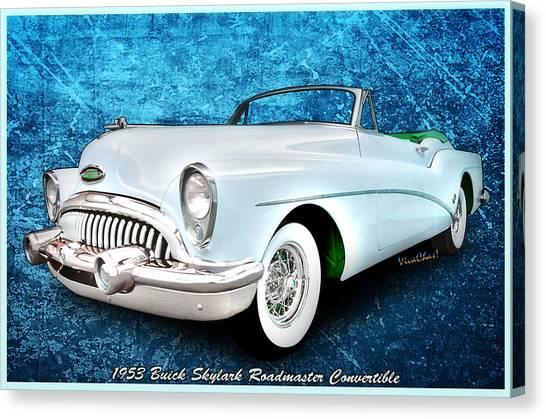 Buick Skylark Roadmaster Convertible For 1953 Canvas Print