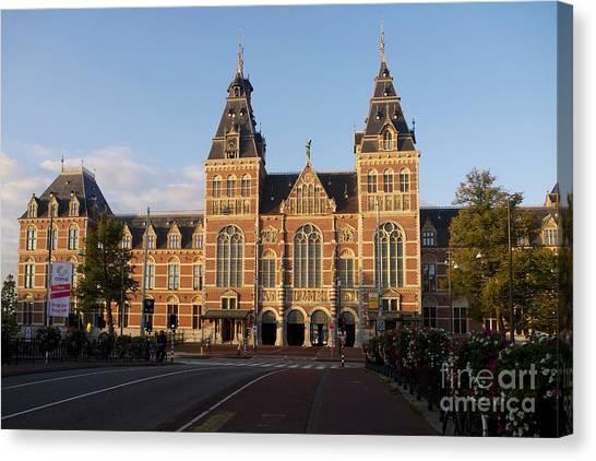 Rijksmuseum Canvas Print - Building Exterior Of Rijksmuseum. Amsterdam. Holland by Bernard Jaubert
