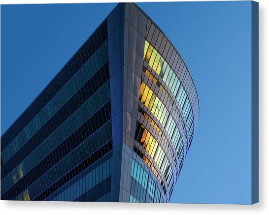 Building Floating In The Sky Canvas Print