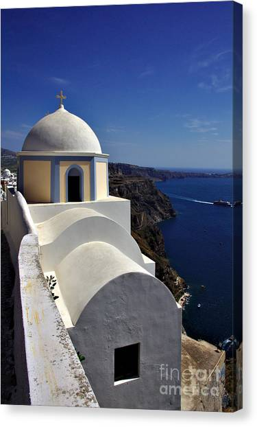 Building In Fira Canvas Print