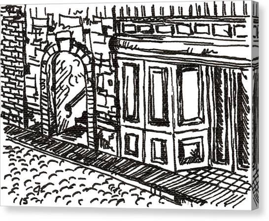Buildings 2 2015 - Aceo Canvas Print
