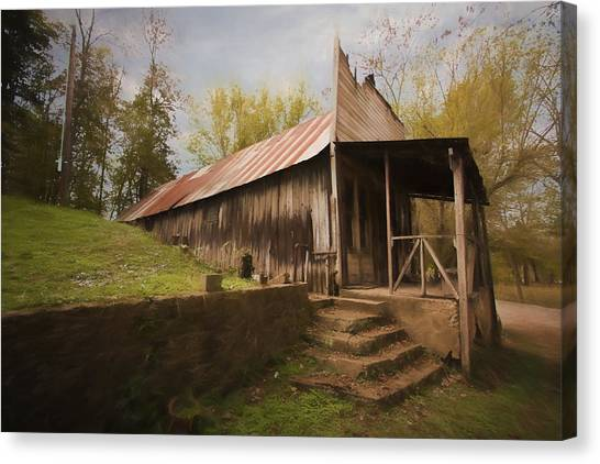 Built In The Berm Canvas Print