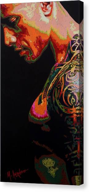 Dwayne Johnson Canvas Print - Built Like A Rock by Maria Arango