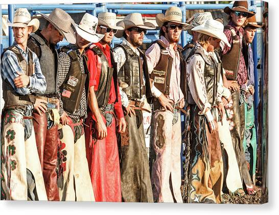 Rodeo Clown Canvas Print - Bull Bash Cowboys by Steven Bateson
