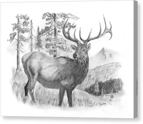 Bull Elk Canvas Print by Russ  Smith