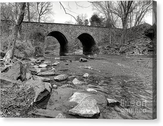 Civil War Site Canvas Print - Bull Run Bridge by Olivier Le Queinec
