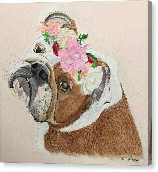 Bulldog Bridesmaid Canvas Print