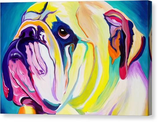 Animal Art Canvas Print - Bulldog - Bully by Alicia VanNoy Call