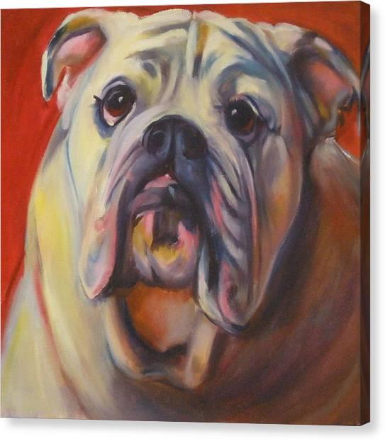 Bulldog Expression One Canvas Print by Kaytee Esser