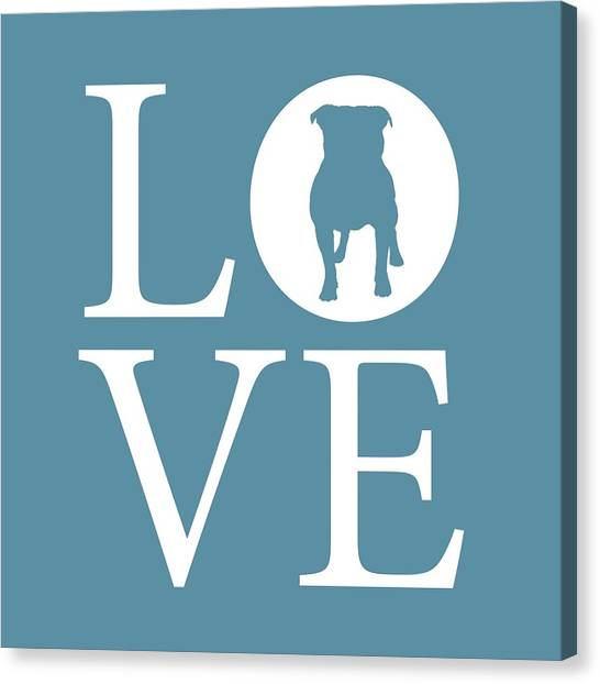 French Bull Dogs Canvas Print - Bulldog Love by Nancy Ingersoll