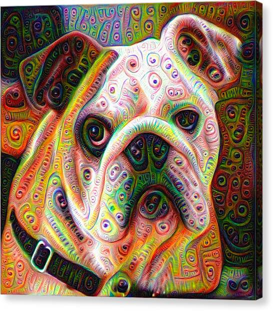 Bulldog Surreal Deep Dream Image Canvas Print
