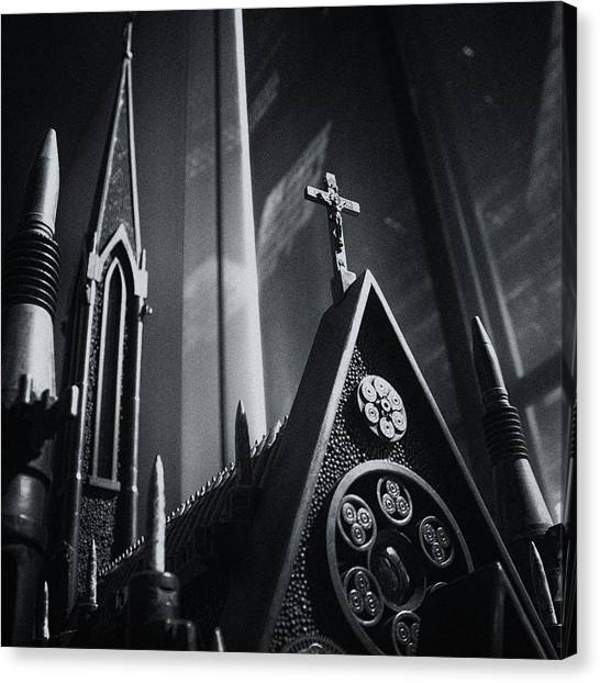 Bullet Church Canvas Print