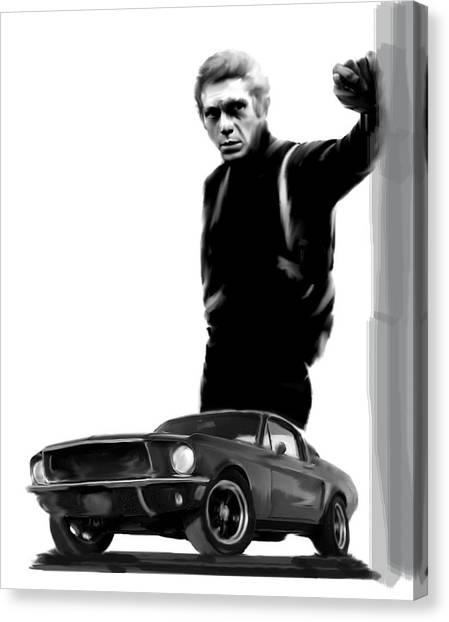 Bullitt Cool  Steve Mcqueen Canvas Print